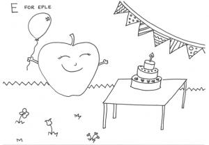 Tegneark - eple